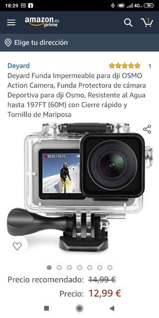Funda subacuática para DJI Osmo Action Camera