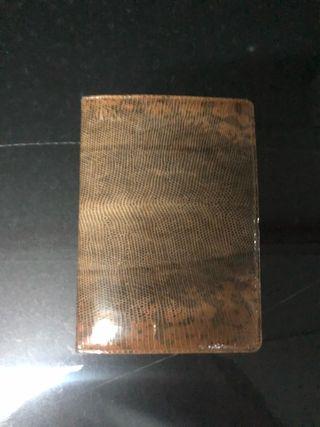 Cartera billetera de piel de serpiente