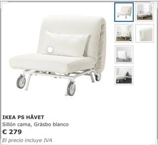 SILLÓN CAMA IKEA + REGALO FUNDA NÓRDICA.