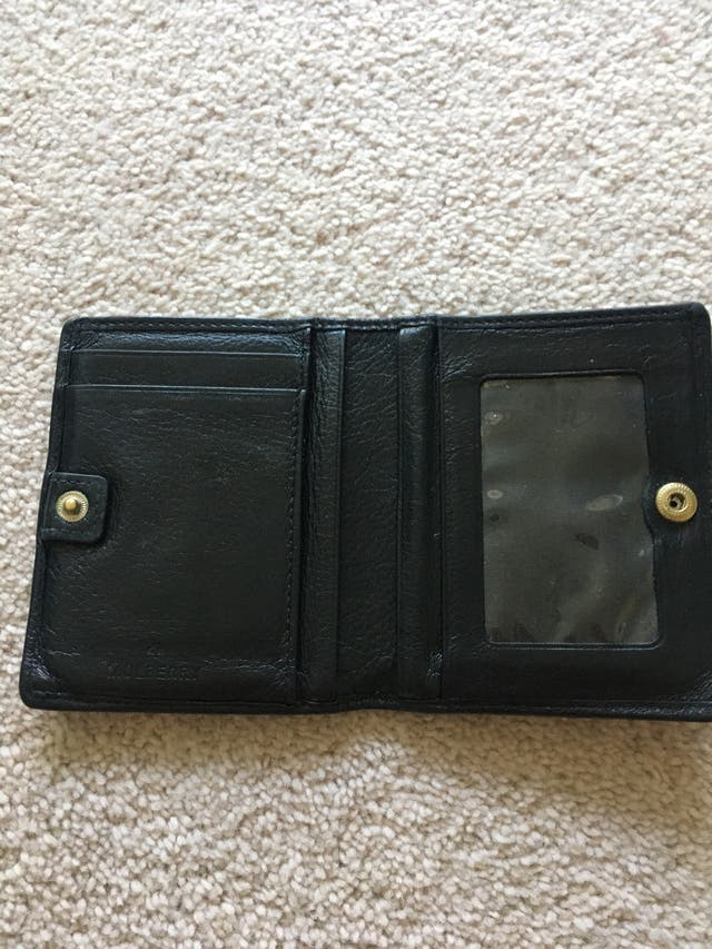 Mulberry black leather wallet