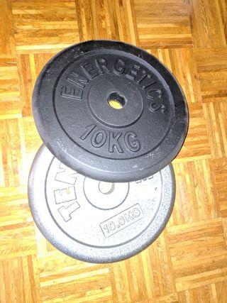 Discos pesas 2 x 10kg