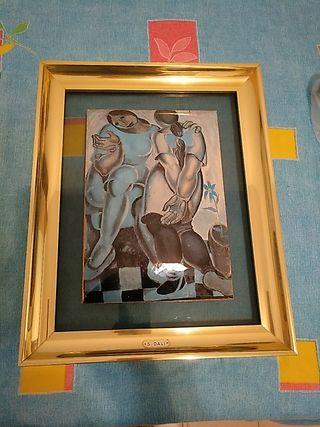 2 cuadros de reproducción Dali