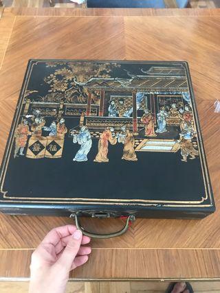 Juego de Mahjong antiguo chino