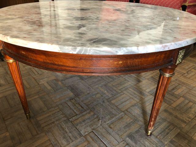 Mesa baja de marmol tipo francesa