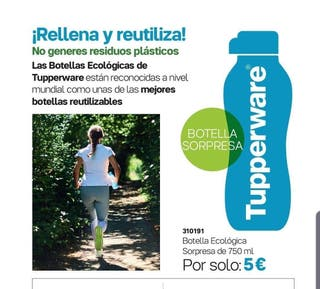 BOTELLA AZUL 750 ML TUPPERWARE