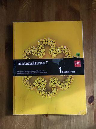 Libro matemáticas, 1°bachilleraro