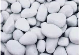 Piedras blancas - canto rodado