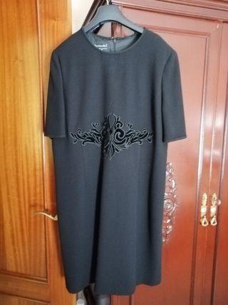vestido señora negro