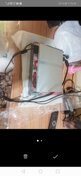 Consola PS2 slim plateada