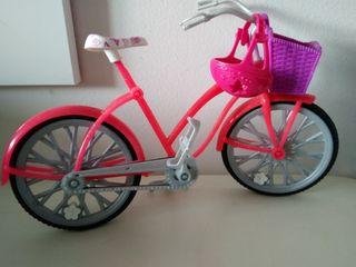 bicicleta de muñeca Barbie