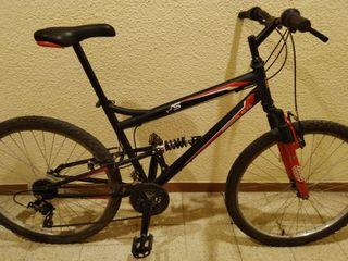 Bicicleta de montaña FS. Doble suspensión