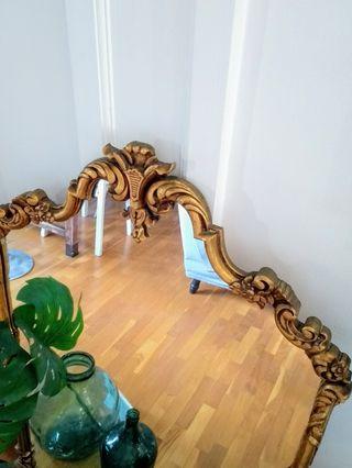 Espejo dorado Rococó