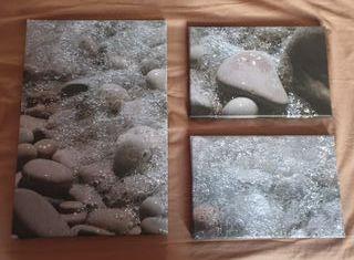 Foto-lienzo piedras&mar