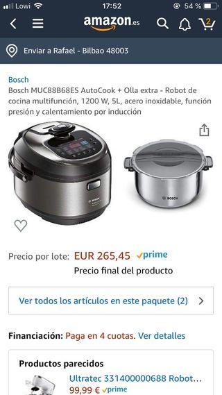 BOSCH AUTOCOOK PRO INDUCCION + OLLA ACERO INOX