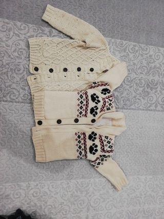 Chaqueta niño de lana 18 a 24 meses