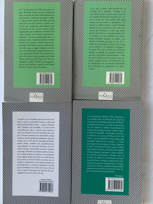 TUSQUETS EDITORES COLECCIÓN FABULA LIBROS NOVELAS