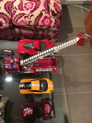 4 coches teledirigidos sin mandos