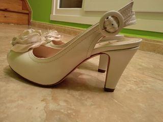 zapatos de novia con cuña unisa t 37 sin estrenar