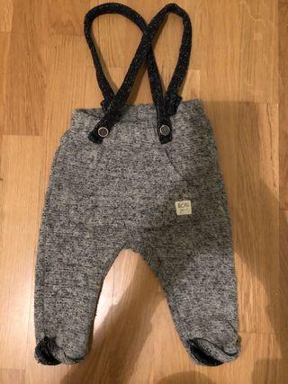 Pantalón c/tirantes talla 80