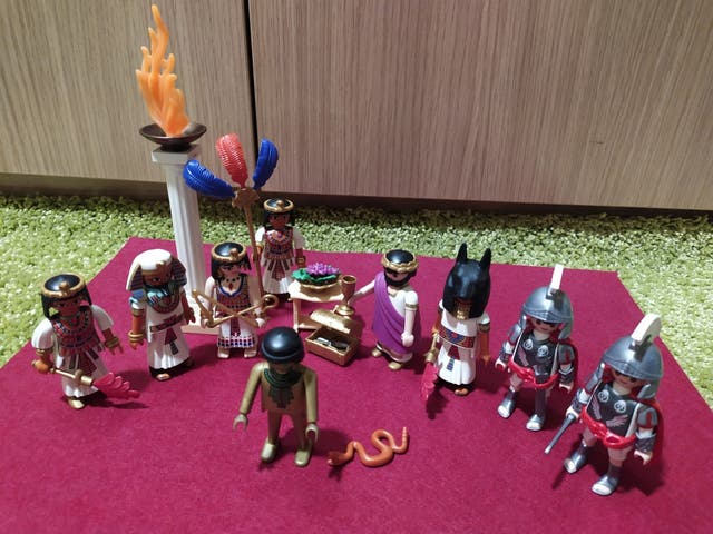 Playmobil Egipto Cleopatra y César, romanos egipto