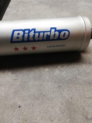 Tubo de escape Biturbo Vespa PKS