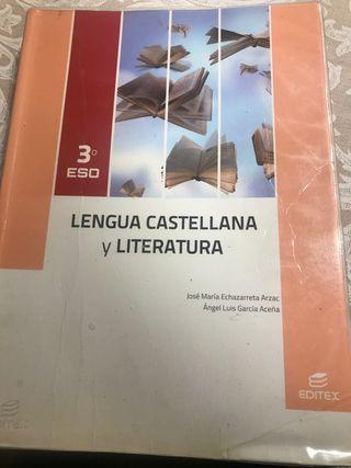Libro de Lengua de 3 ESO Editex