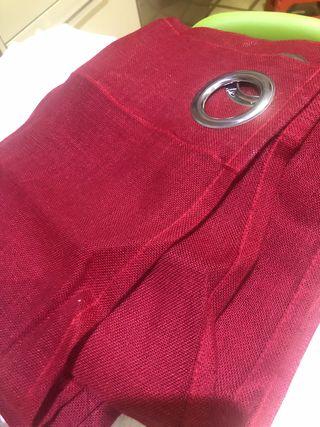2 cortinas rojas de hilo de IKEA nuevas