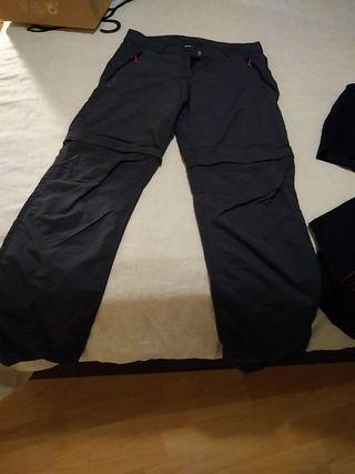 Pantalón de montaña chica. talla 38 Desmontable