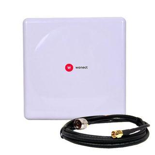 Wonect Panel 20dBi Antena WiFi exterior Pigtail 10