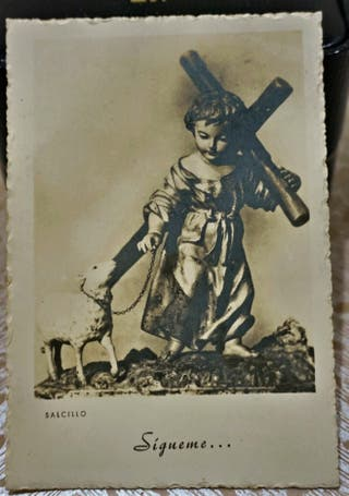 Antigua tarjeta postal «Siqueme.» F. Salcillo