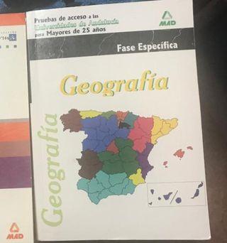 libro geografia acceso universidad mayores de 25