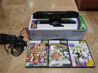 Kinect para xbox con juegos y caja original
