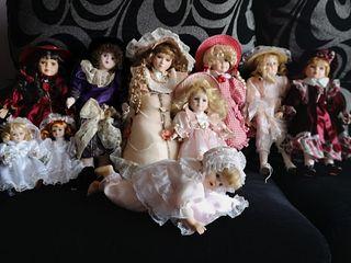 conjunto muñecas porcelana