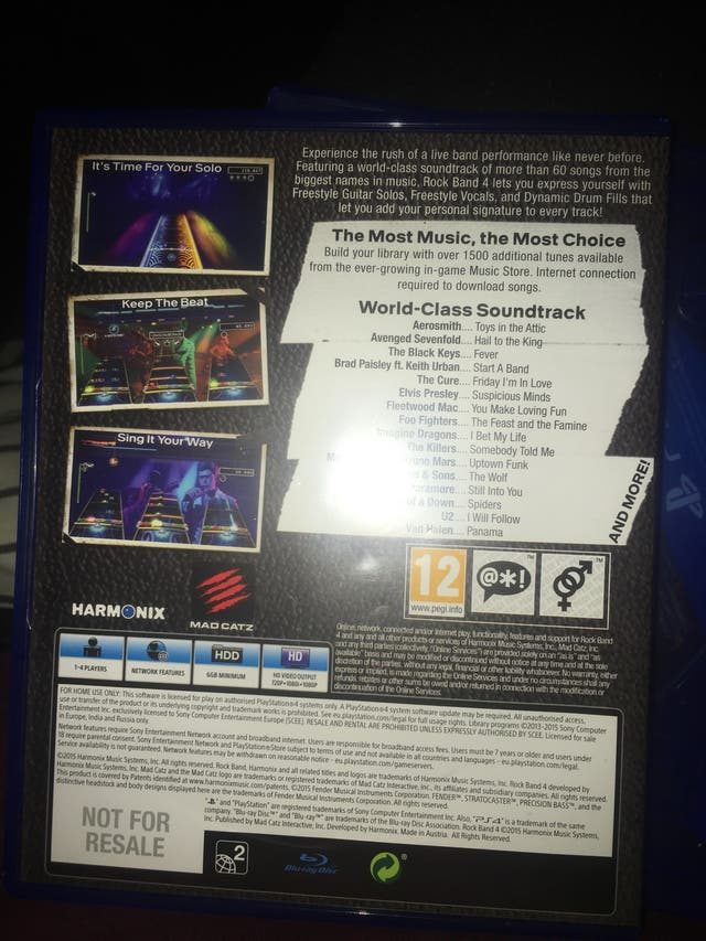 Ps4 ROCK BAND 4 (game only)