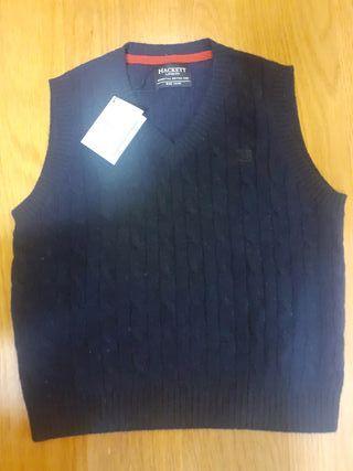 Chaleco jersey azul Hackett T 8 10 niño