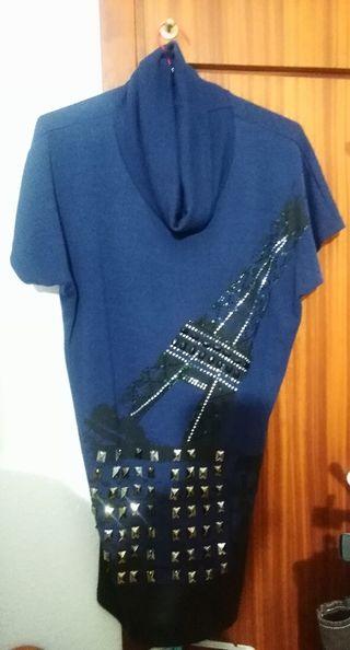Suéter azul, talla m