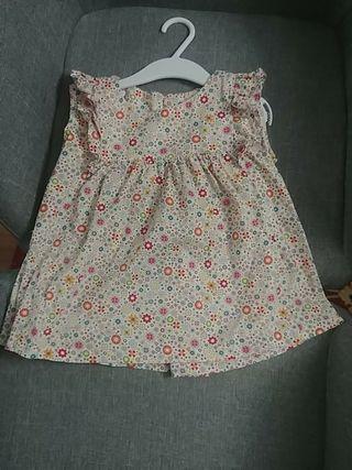 camisa flores niña talla 5-6 años