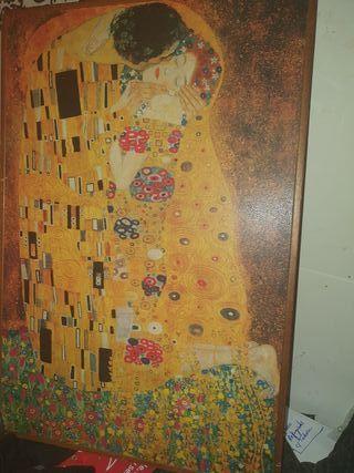 """Cuadro de """" El Beso """" de Gustav Klimt"""