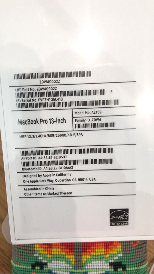 """Macbook pro 13"""" space grey (NEW!) CON GARANTIA"""