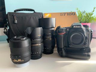 Cámara Reflex Nikon D7100 + Grip + 3 Objetivos