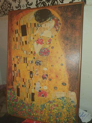 """Cuadro de """"El beso """" de Gustav Klimt"""