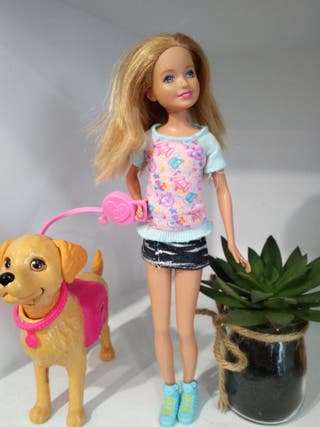 hermana de muñeca Barbie perrito popó