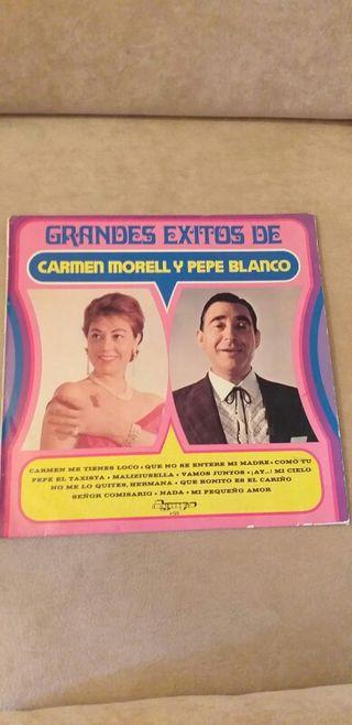 VINILO GRANDES ÉXITOS DE CARMEN MORELL Y PEPE BLAN