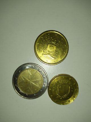 lote monedas 2€, 50 cent y 20 cent.