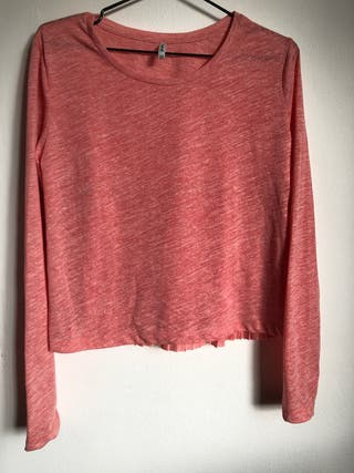 Camiseta color coral detalle espalda M