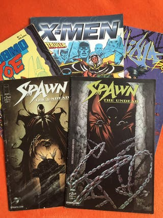 Comics spawn, xmen...