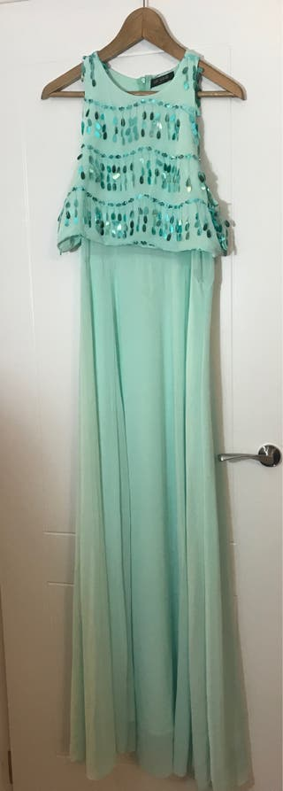 Vestido de fiesta color turquesa