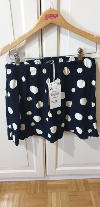 falda pantalón lunares Zara