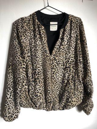 Chaqueta fina leopardo talla M