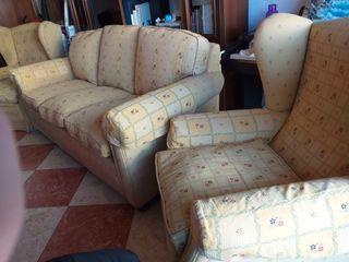 Conjunto de sofá+sillones